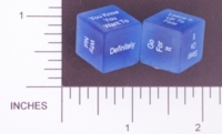 Dice : NON NUMBERED TRANSLUCENT ROUNDED SOLID DESTINY DICE INDECISION 01