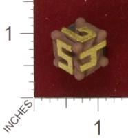 Dice : MINT33 SHAPEWAYS ENGINEERS MIND EXPOSED D6 DIE 01