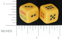 Dice : D6 OPAQUE ROUNDED SOLID REMY MARTIN 01