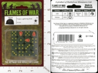 Dice : MINT28 FLAMES OF WAR VE006 TROPIC LIGHTNING DICE 01