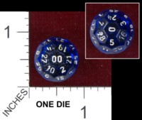 Dice : D32 CLEAR ROUNDED SOLID 11
