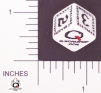 Dice : NUMBERED OPAQUE ROUNDED SOLID Q WORKSHOP 01