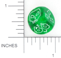 Dice : NUMBERED CLEAR ROUNDED SOLID IMPACT MINIATURES 01