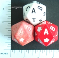 Dice : D20 OPAQUE ROUNDED SOLID LARGE