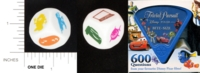 Dice : NON NUMBERED OPAQUE ROUNDED SOLID PARKER BROTHERS TRIVIAL PURSUIT BITE SIZE DISNEY PIXAR 01