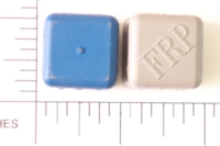 Dice : D6 OPAQUE ROUNDED SOLID RUBBER FRP