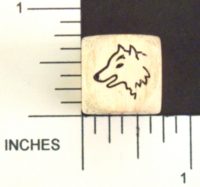 Dice : WOOD UNKNOWN 01 WOLF