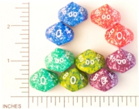 Dice : D10 OPAQUE ROUNDED SPECKLED KOPLOW 01