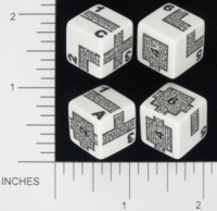 Dice : NUMBERED OPAQUE ROUNDED SOLID CHESSEX DUNGEONEER II 02
