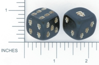 Dice : D6 OPAQUE ROUNDED SOLID KNIFE SHOP VILSECK GERMANY 01