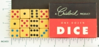 Dice : MINT1 CRISLOID IVORY 12 FIVE EIGHTHS INLAID 01