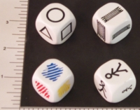 Dice : NON NUMBERED OPAQUE ROUNDED SOLID 01
