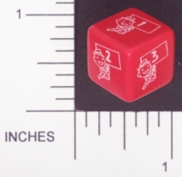 Dice : NUMBERED OPAQUE ROUNDED SOLID CHESSEX CUSTOM 01