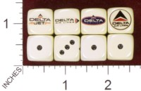 Dice : MINT35 HOMEMADE DELTA AIRLINES 03