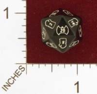 Dice : D20 OPAQUE ROUNDED SOLID Q WORKSHOP CUSTOM FOR WARLORD CCG 01