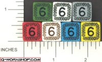 Dice : NUMBERED OPAQUE ROUND SOLID Q WORKSHOP SKULLY 01