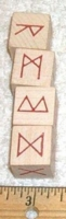 Dice : NON NUMBERED UNKNOWN RUNE DICE 02 WOOD
