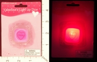 Dice : MINT21 DELUXE IMPORTS VALENTINES LIGHT UP DICE