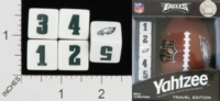 Dice : NUMBERED OPAQUE ROUNDED SOLID USAOPOLY PHILADELPHIA EAGLES YAHTZEE 01