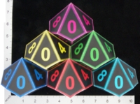 Dice : PAPER D10 OVERSOUL GAMES CYBER CLASH 01