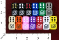 Dice : MINT37 CHESSEX DICE MANIACS CLUB LOGO OLD 01 OPAQUES