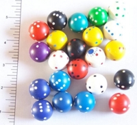 Dice : D6 OPAQUE ROUNDED SOLID SPHERICAL 2