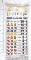 Dice : MINT4 EXCLUSIVE PLAYING CARD CO SLOT MACHNE DICE
