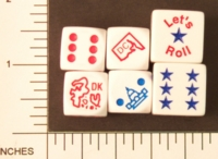 Dice : D6 OPAQUE SHARP SOLID KOPLOW STATES COUNTRIES ETC