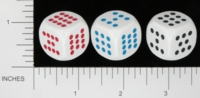 Dice : D6 OPAQUE ROUNDED SOLID KOPLOW PIPPED 7 TO 12 01