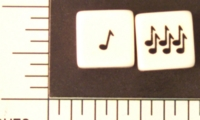 Dice : D6 MUSICAL NOTES