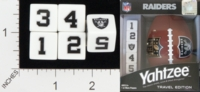 Dice : NUMBERED OPAQUE ROUNDED SOLID USAOPOLY OAKLAND RAIDERS YAHTZEE 01