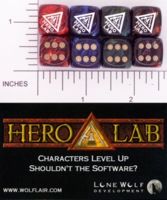 Dice : D6 OPAQUE ROUNDED IRIDESCENT LONE WOLF HERO LAB 01