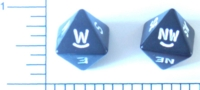 Dice : D8 OPAQUE ROUNDED SOLID DIRECTION