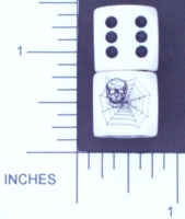 Dice : D6 OPAQUE ROUNDED SOLID 03 CHESSEX SKULL SPIDER