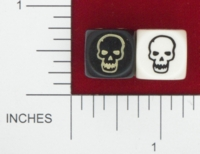 Dice : D6 OPAQUE ROUNDED SOLID GALE FORCE NINE SKULL 01