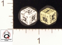 Dice : NUMBERED OPAQUE ROUNDED SOLID Q WORKSHOP DOGTAG BATTLE SOVIET 02
