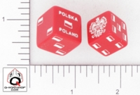 Dice : D6 OPAQUE ROUNDED SOLID Q WORKSHOP POLSKA POLAND 01