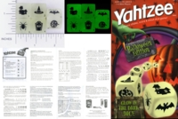Dice : NON NUMBERED TRANSLUCENT ROUNDED SOLID YAHTZEE USAOPOLY HALLOWEEN EDITION 01