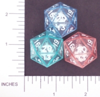 Dice : D20 CLEAR SHARP SOLID KOPLOW DOUBLE DICE 2