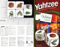 Dice : NON NUMBERED OPAQUE ROUNDED SOLID YAHTZEE USAOPOLY HOLIDAY EDITION 01
