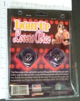 Dice : SEX PIPE DREAM 10 LIGHT UP LOVERS DICE