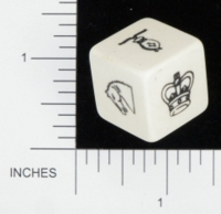 Dice : NON NUMBERED OPAQUE ROUNDED SOLID UNKNOWN CHESS BKTRADE 01