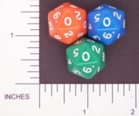 Dice : D20 OPAQUE ROUNDED SOLID FAMILY LEARNING 03